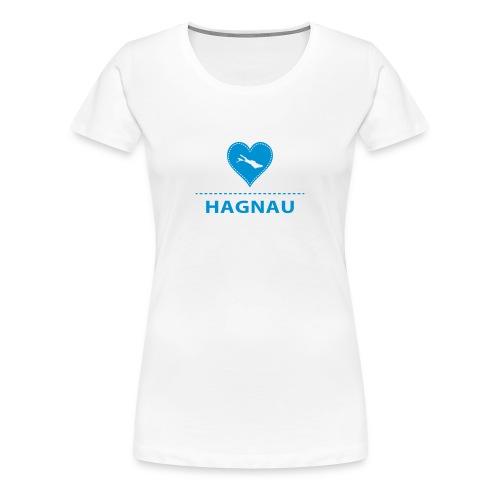 WOMEN Hagnau flex blau - Frauen Premium T-Shirt