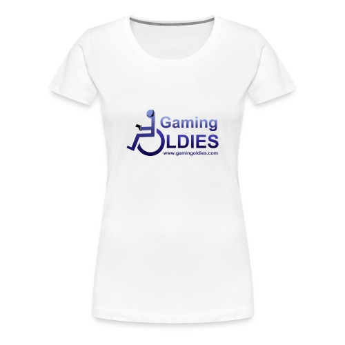 Women's Premium T-Shirt - Ladies t-shirt with logo on front, GOs tag on right and no text