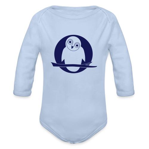 tier t-shirt eule uhu mond owl eulen niedlich nacht - Baby Bio-Langarm-Body