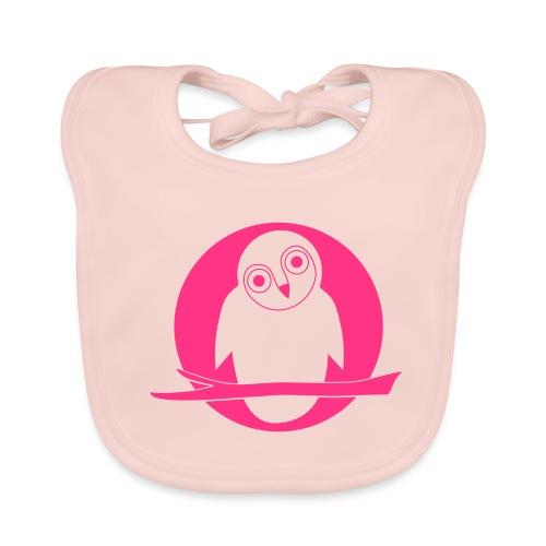 tier t-shirt eule uhu mond owl eulen niedlich nacht - Baby Bio-Lätzchen