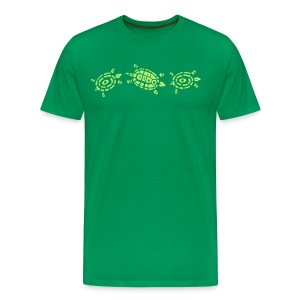Stein Schere Papier - Schildkröte T-Shirt - Männer Premium T-Shirt