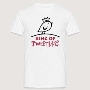 TWEETLERCOOLS king of tweeting - Männer T-Shirt