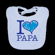 Bavoirs Bébés ~ Bavoir bio Bébé ~ bavoir bleu : j'aime papa