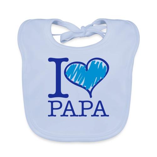 bavoir bleu : j'aime papa - Bavoir bio Bébé