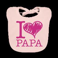 Bavoirs Bébés ~ Bavoir bio Bébé ~ bavoir rose : j'aime papa