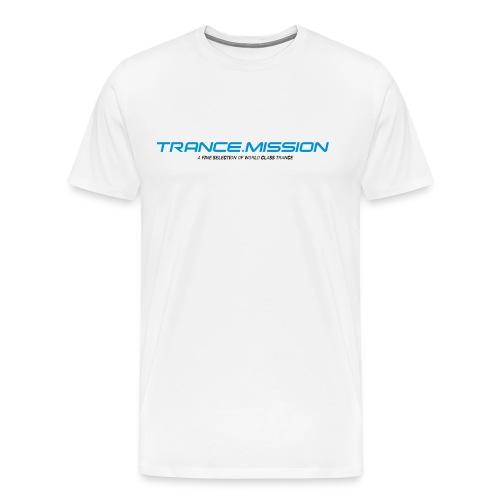 Trance.Mission (m) normal shirt (white) - Männer Premium T-Shirt