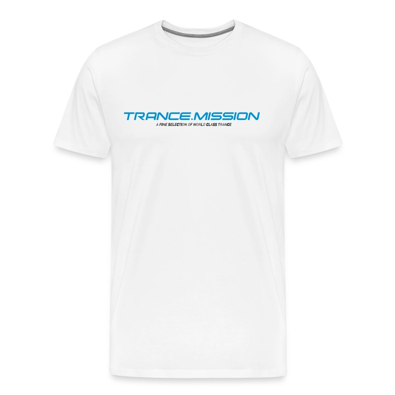 Trance.Mission (m) normal shirt (white) - Männer Premium T-Shirt