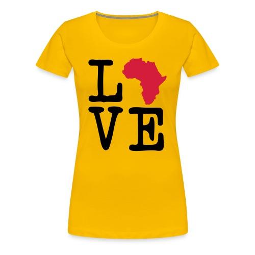I Love Africa, I Heart Africa - Women's Premium T-Shirt