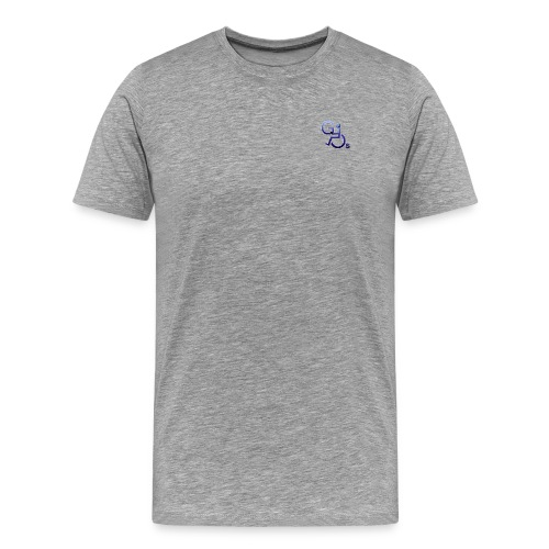 Men's Premium T-Shirt - Mens t-shirt with  GOs tag on front, logo on right and text on left