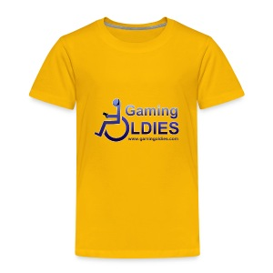 Kids' Premium T-Shirt - Kids t-shirt with logo on front, GOs tag on right sleeve and any text on back