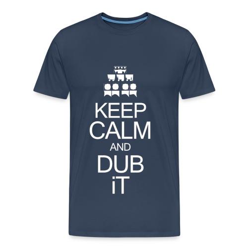 Keep Calm White logo - MAN - T-shirt Premium Homme