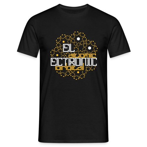 Schwarz electronic atomic orbital (© alteerian) T-Shirts - Männer T-Shirt