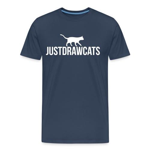 JustDrawCats Mannen T-Shirt (Donker) - Mannen Premium T-shirt