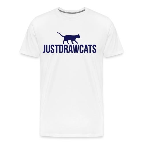 JustDrawCats Mannen T-Shirt (Licht) - Mannen Premium T-shirt