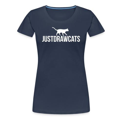 JustDrawCats Vrouwen T-Shirt (Donker) - Vrouwen Premium T-shirt