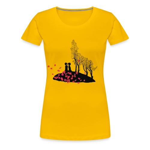 T-shirt med vargmotiv - Premium-T-shirt dam