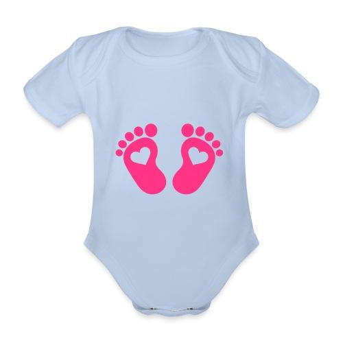 Feet - Ekologisk kortärmad babybody