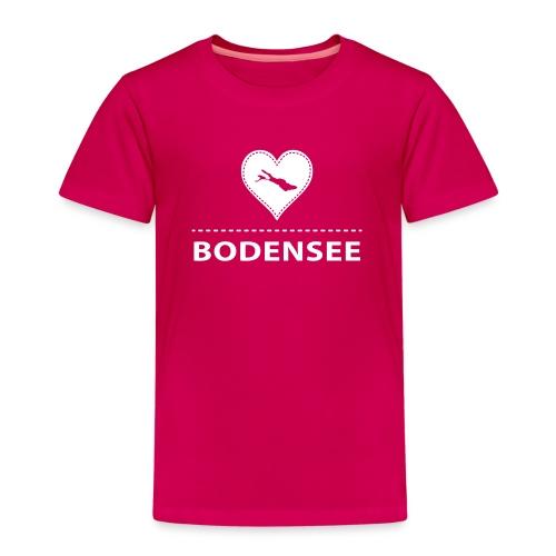 KIDS Bodensee flock weiß - Kinder Premium T-Shirt