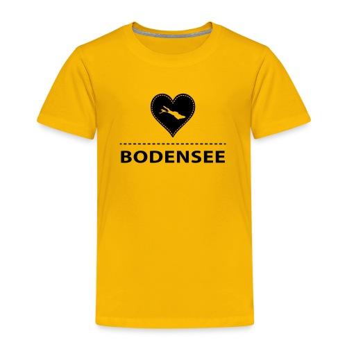 KIDS Bodensee flock schwarz - Kinder Premium T-Shirt