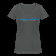 T-Shirts ~ Frauen T-Shirt mit V-Ausschnitt ~ Trance.Mission (w) detail (anthrazit)