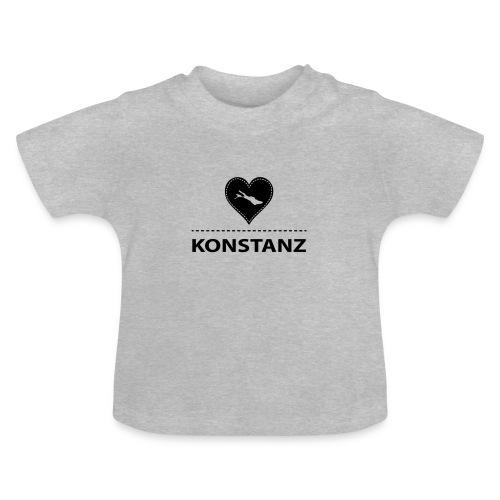 BABY Konstanz flock schwarz - Baby T-Shirt