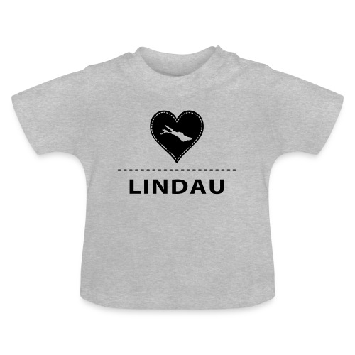 BABY Lindau flock schwarz - Baby T-Shirt