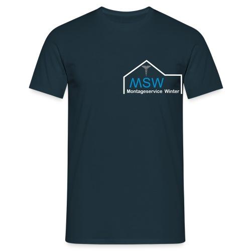 Montageservice Winter T-Shirt - Männer T-Shirt