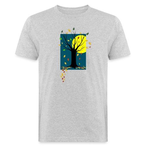Herbst-C-BioShirt_grau - Männer Bio-T-Shirt