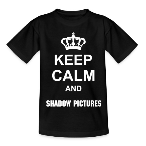 Keep Calm and Shadow Pictures (T-Shirt) Männer - Teenager T-Shirt