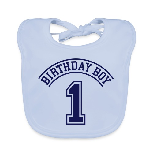 Birthday boy 1 year Bib - Baby Organic Bib