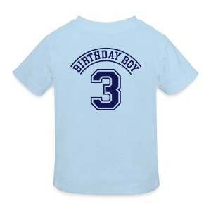Light blue Birthday boy  3 years Kids' Shirts - Kids' Organic T-shirt
