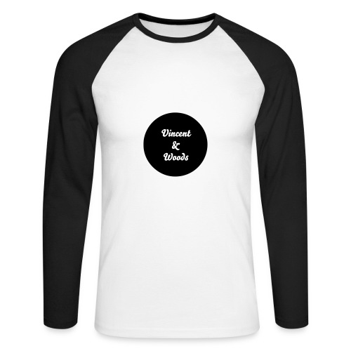 Vincent&Woods Long Sleeve Baseballl Top - Men's Long Sleeve Baseball T-Shirt