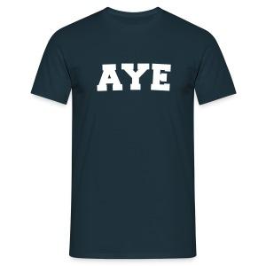 Scotland Aye Mens T Shirt Navy - Men's T-Shirt
