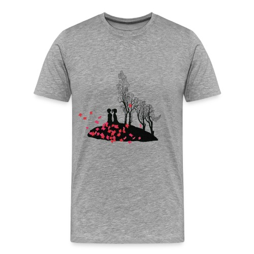 T-shirt med vargmotiv - Premium-T-shirt herr
