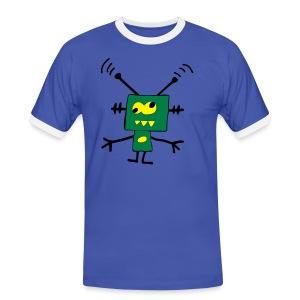 TBS - koszulka kontrastowa - Koszulka męska z kontrastowymi wstawkami
