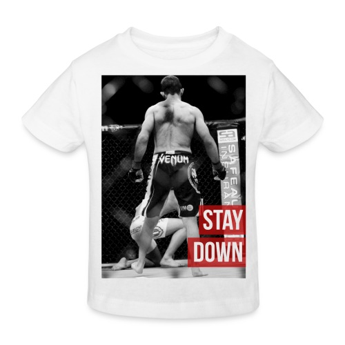 kids Fashion Tshirt - 'Stay down' - Kids' Organic T-Shirt
