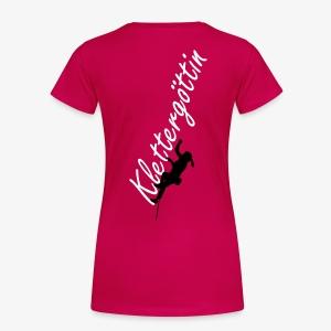 Klettergöttin (women) - Frauen Premium T-Shirt