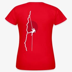 Kletterer beim Abseilen (women) - Frauen T-Shirt