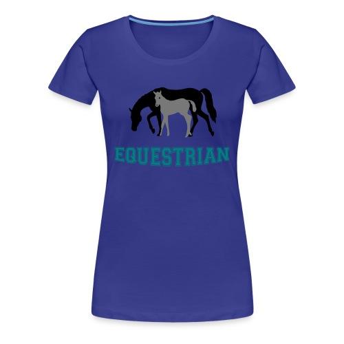 Mare and Foal Equestrian T-Shirt - Women's Premium T-Shirt