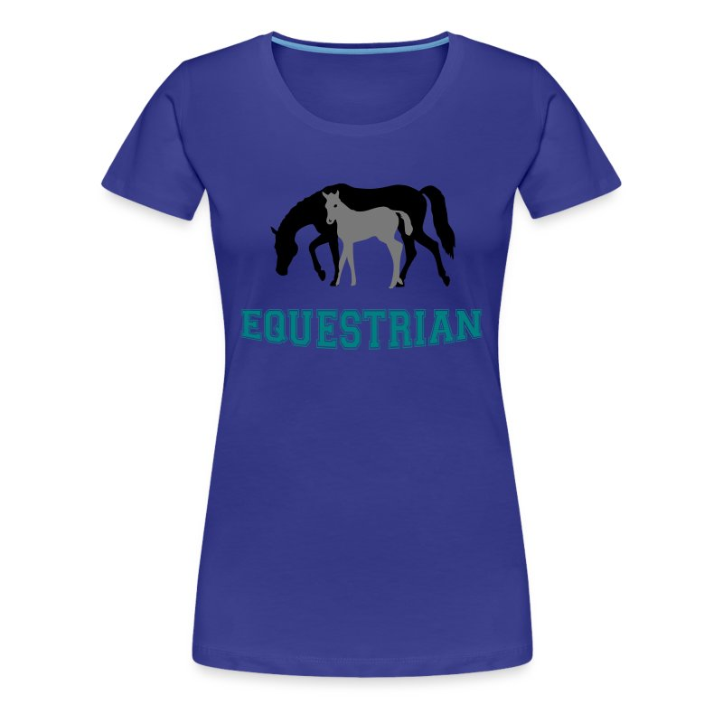 Mare and Foal Equestrian T-Shirt - Women's Premium T-Shirt