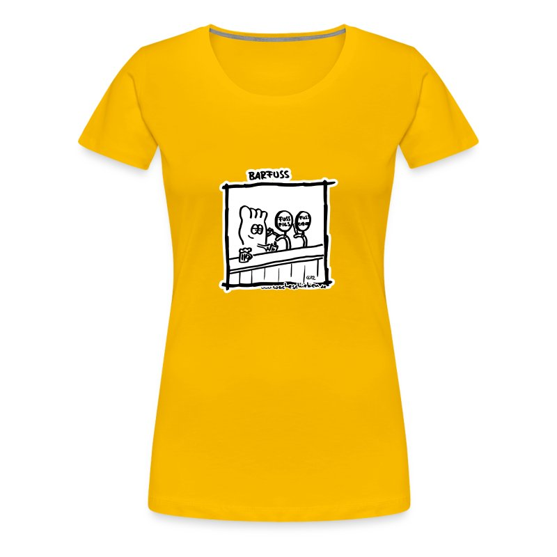 Barfuss (Frauen) - Frauen Premium T-Shirt