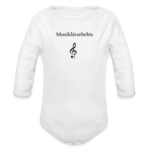 Musiklärarbebis - Ekologisk långärmad babybody