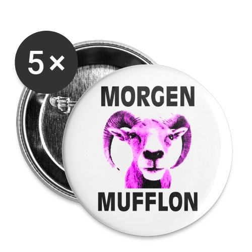 """Morgen Mufflon"" Button - Buttons mittel 32 mm"
