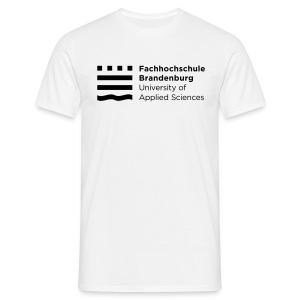 Männer T-Shirt - Ob zur Vorlesung, zum Hochschulsport oder einfach nur als Freizeitbekleidung: Das lockere Herren-T-Shirt in weiß mit schwarzem FHB-Logo passt bei jeder Gelegenheit!