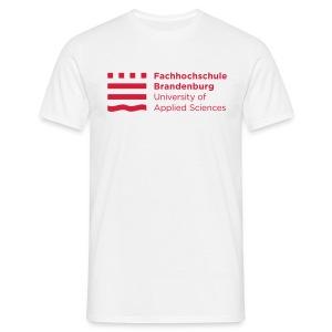 Männer T-Shirt - Ob zur Vorlesung, zum Hochschulsport oder einfach nur als Freizeitbekleidung: Das lockere Herren-T-Shirt in weiß mit rotem FHB-Logo passt bei jeder Gelegenheit!