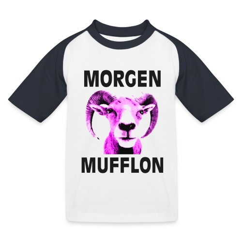 """""""Morgen Mufflon"""" Kinder-Shirt - Kinder Baseball T-Shirt"""