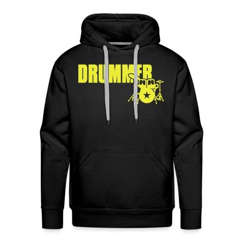 Men's 'Evil Drummer Monkey' Hooded Sweatshirt (Black) - Men's Premium Hoodie