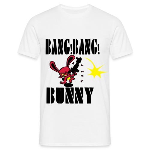 Men's 'Bang Bang Bunny' T-Shirt (White) - Men's T-Shirt