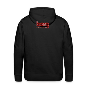 Borg Hoody with Red txt logo on back - Men's Premium Hoodie