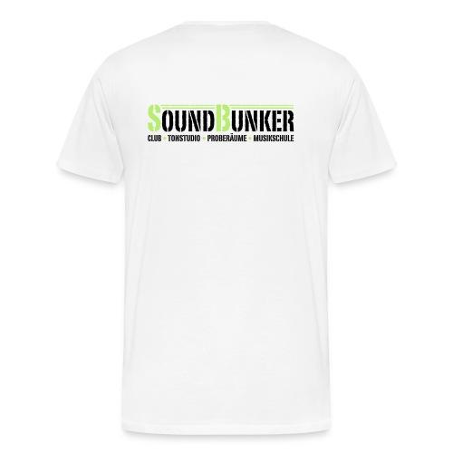 Nur Hinten für helle Farben - Männer Premium T-Shirt